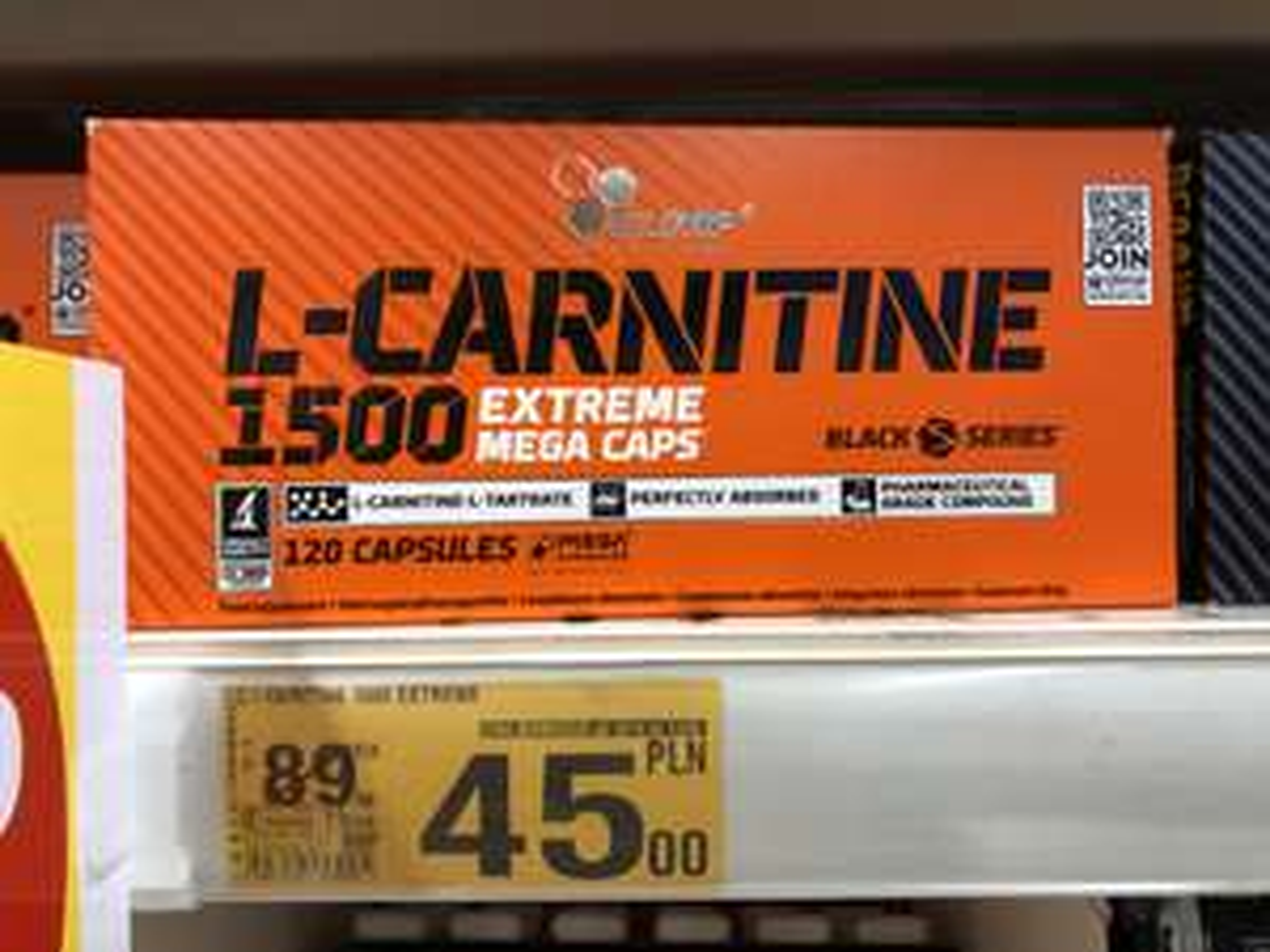 Spalacz tłuszczu Olimp L-Carnitine 1500 Extreme 120kaps