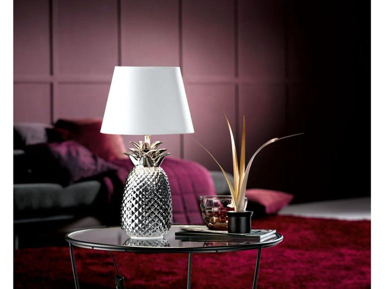 Srebrna lampka stołowa LED LIVARNOLUX w kształcie ananasa @ Lidl