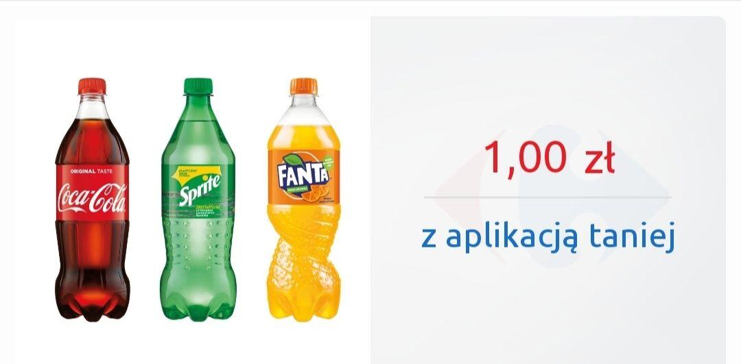 Coca Cola, Fanta, Sprite 850ml za 1zł - Carrefour Express