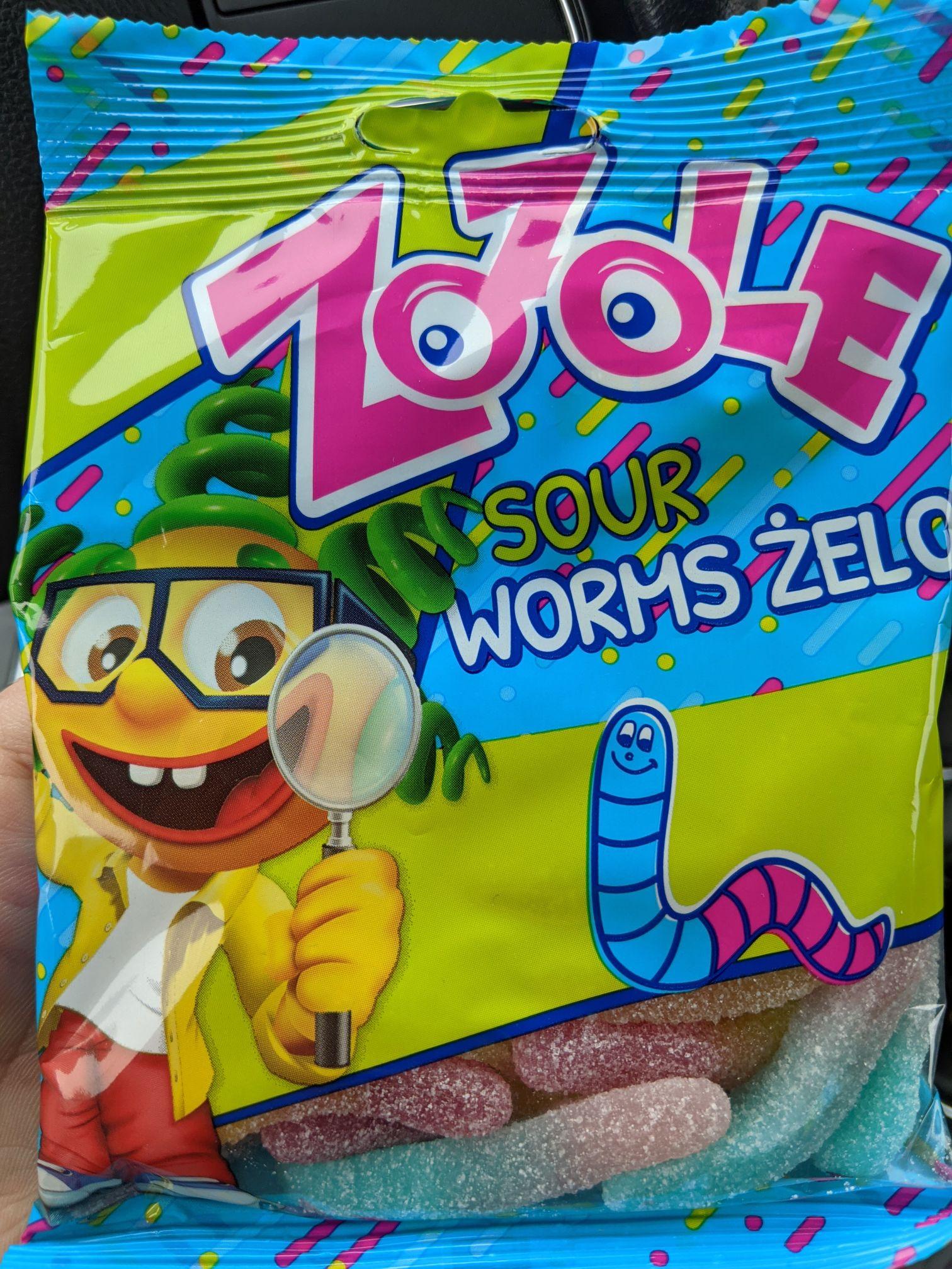Mieszko Zozole, kwaśne żelki robaki, sour worms, 75g. Kaufland