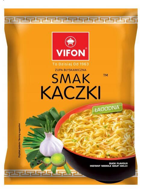 10 sztuk Zupka smak kaczki Vifon TERMIN 31.12.2020