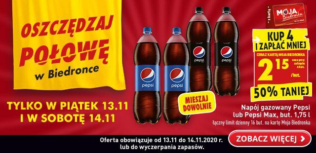 Kup 4 szt Pepsi 1.75 l - Biedronka