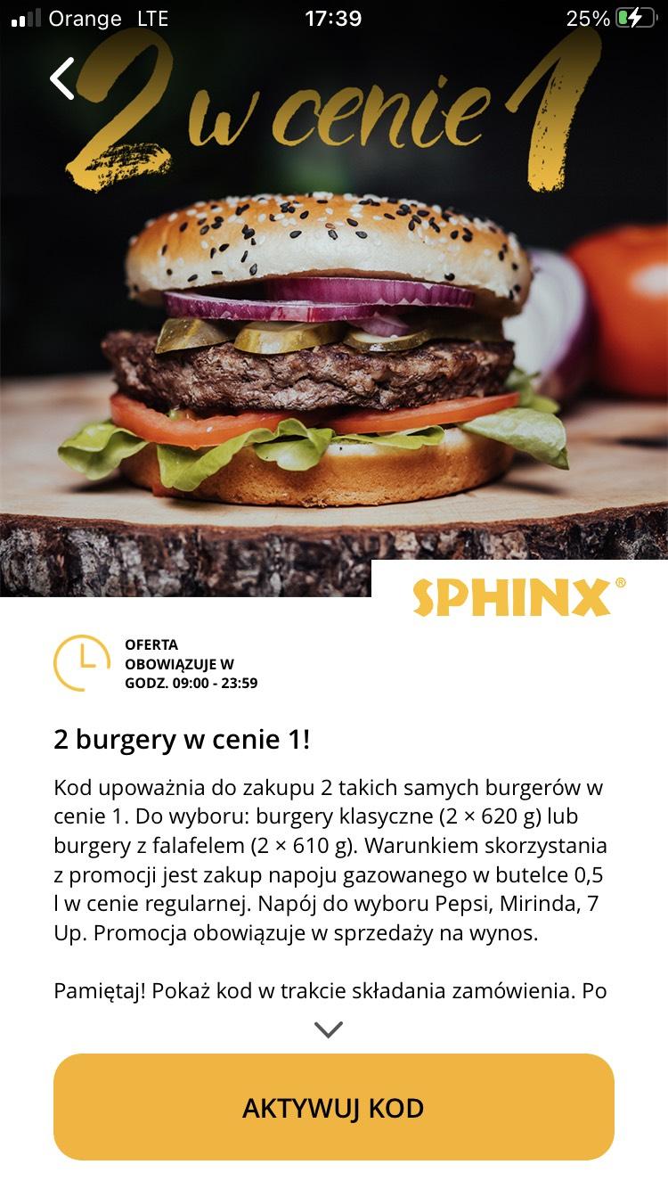 SPHINX 2 burgery w cenie jednego - aplikacja Aperitif