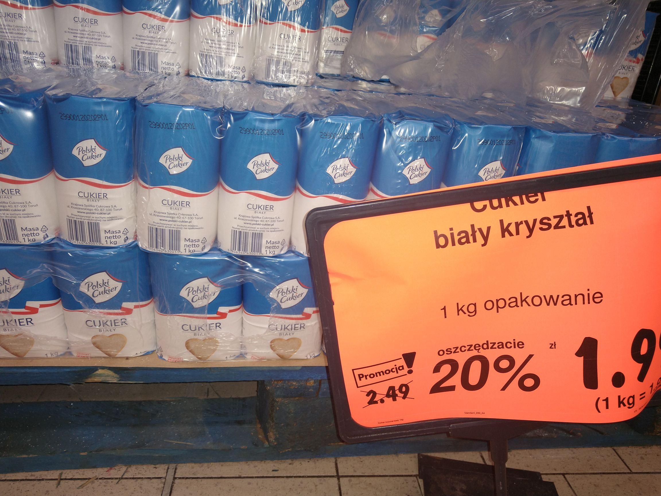 Cukier polski w Kaufland Birżańska