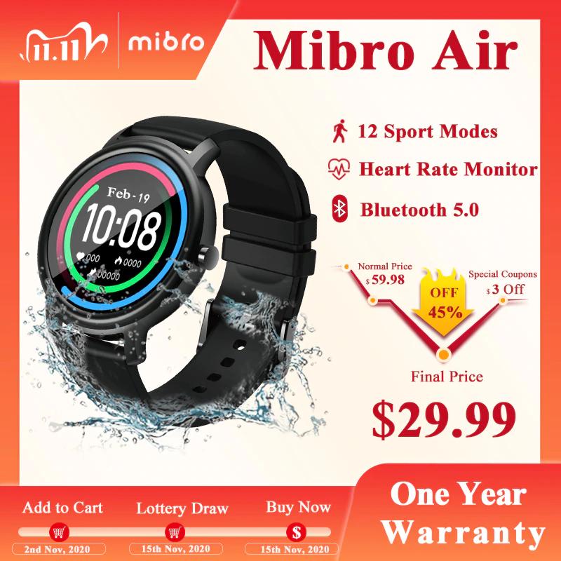 Nowość!!! Wodoodporny smartwatch Xiaomi MiBro Air US $26.99
