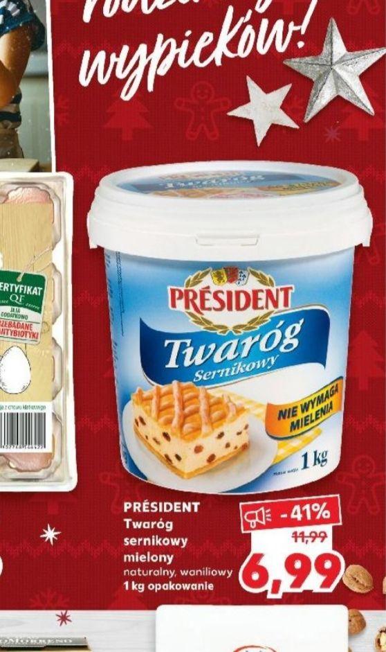 Twaróg president 1kg-kaufland