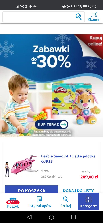 Do 30% rabatu na niektóre zabawki w aplikacji mobilnej Carrefour i na stronie www.carrefour.pl