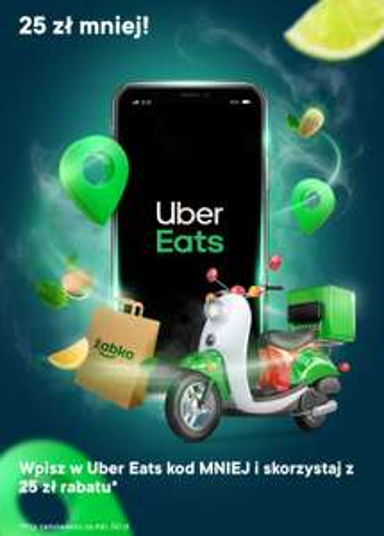 25 zł zniżki za zamówienia z Żabki z Uber Eats (MWZ 50 zł)