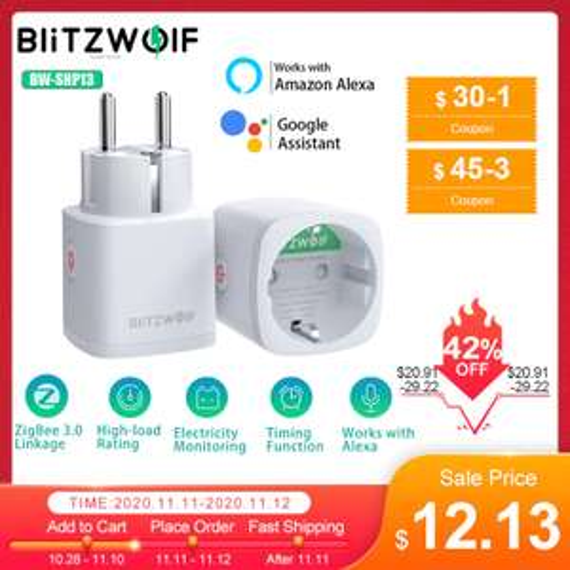 Gniazdko Smart od Blitzwolf @Aliexpress $12.13