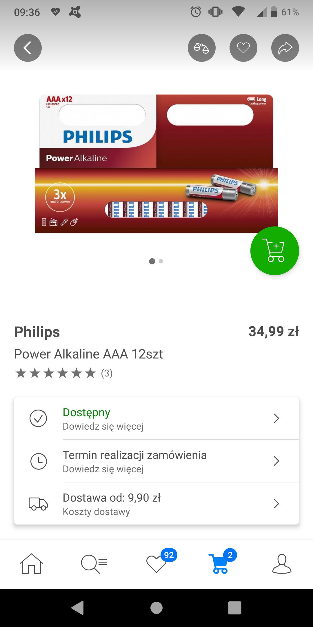 Philips Power Alkaline AAA 12szt