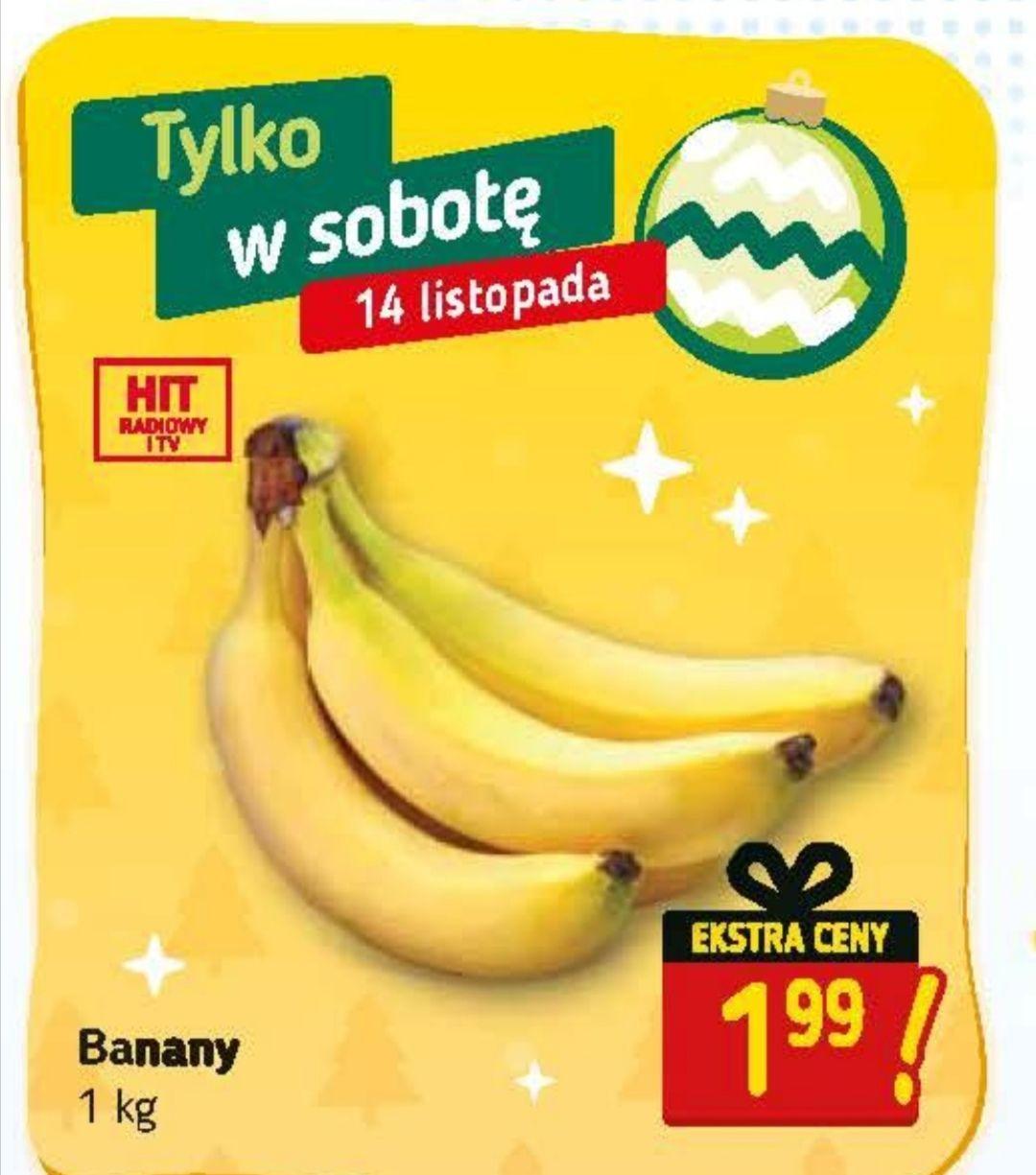 Banany 1.99zł za kg Stokrotka