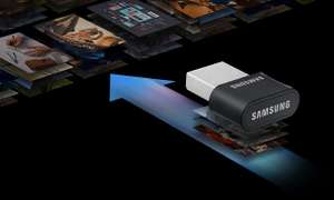 Pendrive Samsung 256GB FIT Plus Gray 300MB/s