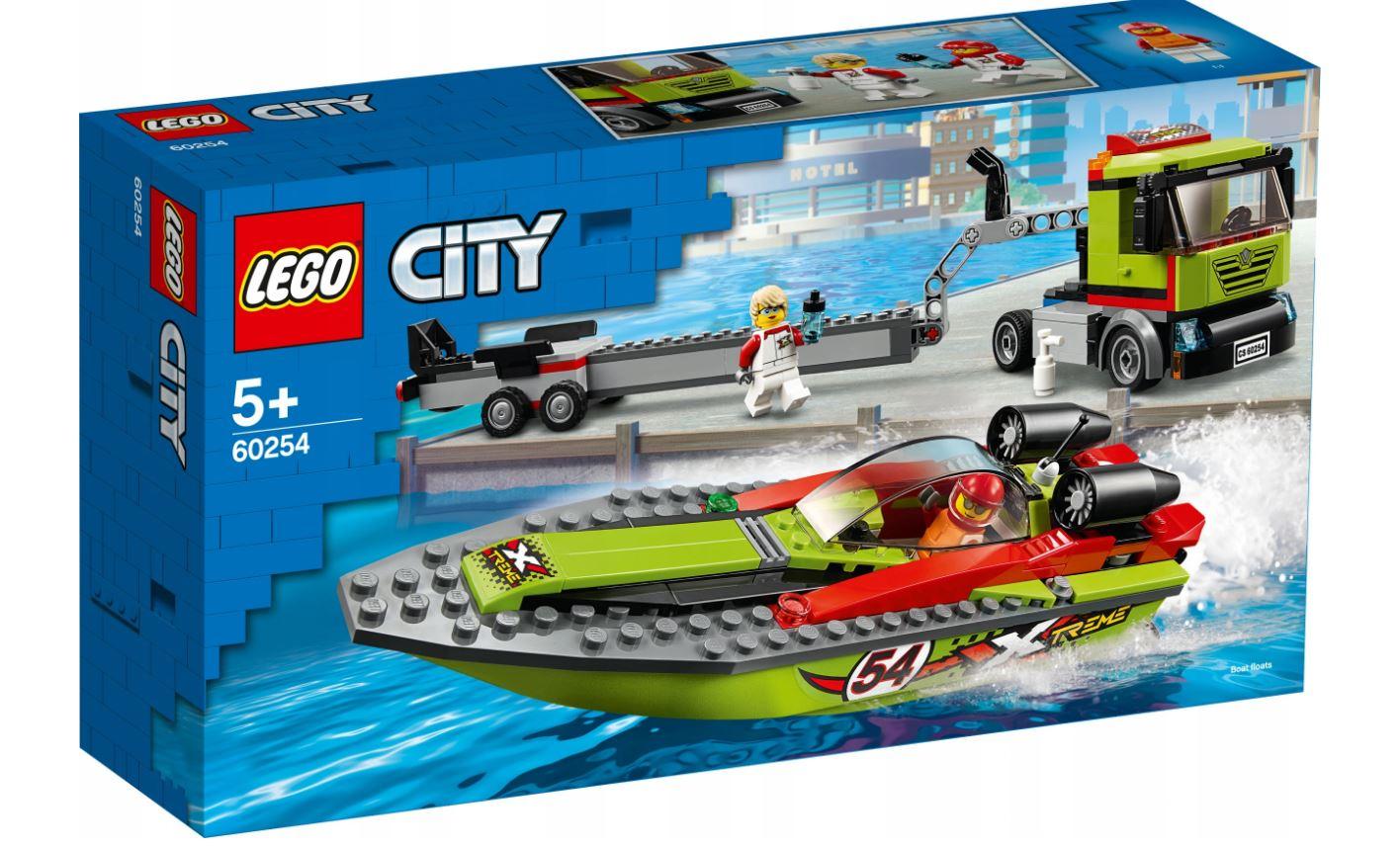 Lego 60254 transporter łodzi Auchan