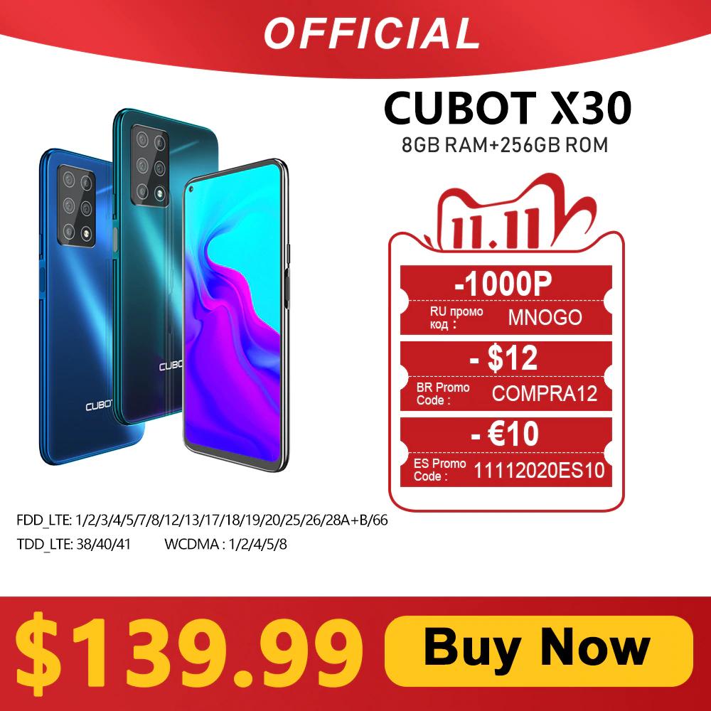 Cubot X30, Globalna wersja z Polską Dostawą | Mediatek Helio P60 | 8GB LPDDR4/256GB UFS 2.1 | S5KGM1 (Samsung) | 4200mAh