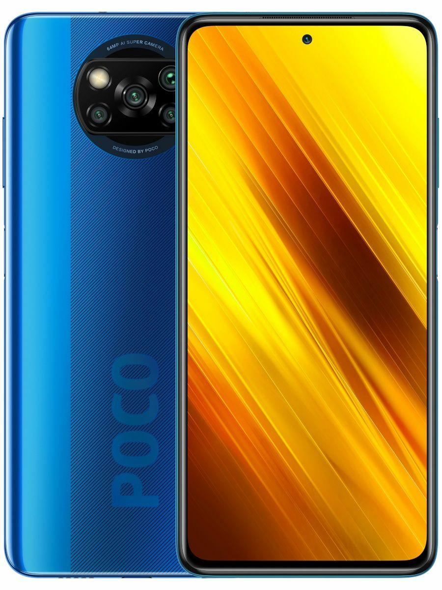 Smartfon, 6,67 cala, Poco X3 NFC, IPS, 128 GB, 2400x1080, 6 GB, 5160 mAh, Xiaomi