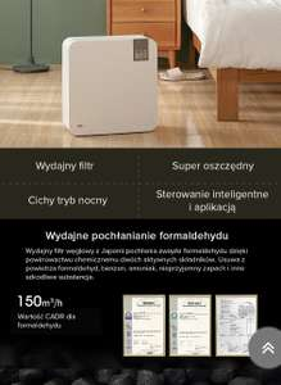 Oczyszczacz powietrza Baomi 2.0 Lite – biały