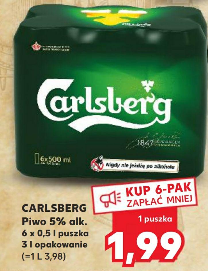 Piwo Carlsberg 500 ml puszka przy zakupie 6 sztuk - Kaufland