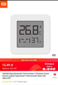 XIAOMI Mijia Bluetooth Thermometer 2, $3.24