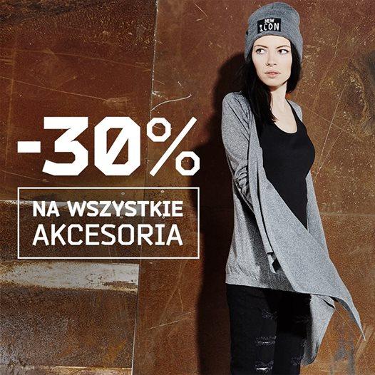 Rabat 30% na akcesoria damskie i męskie @ Cropp