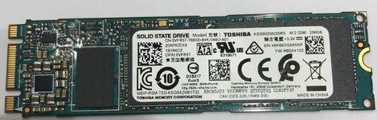 Dysk SSD M.2 Nvme Toshiba 256GB 2280 - morele demontaż