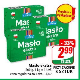 Masło Ekstra 200g 83% przy zakupie 3 szt. @Dino