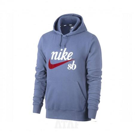 Bluza męska Nike SB Washed Icon Hoodie Washed Icon Navy