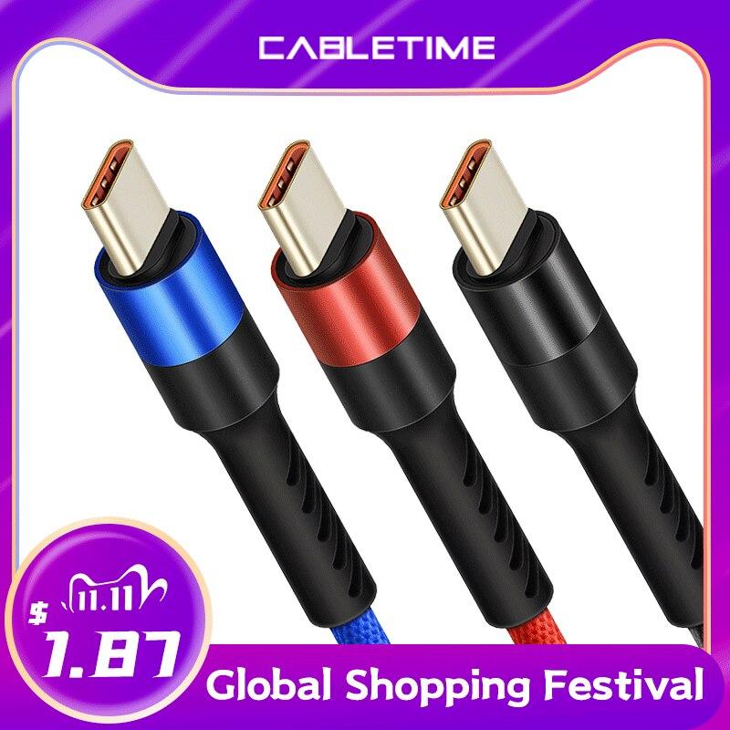 Nylonowy kabel USB-C 1m @Aliexpress
