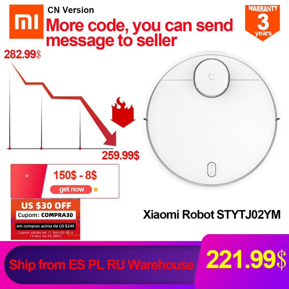 Odkurzacz automatyczny Xiaomi STYTJ02YM CN mopowanie + nawigacja + wysyłka z PL lub ES za 223.39$