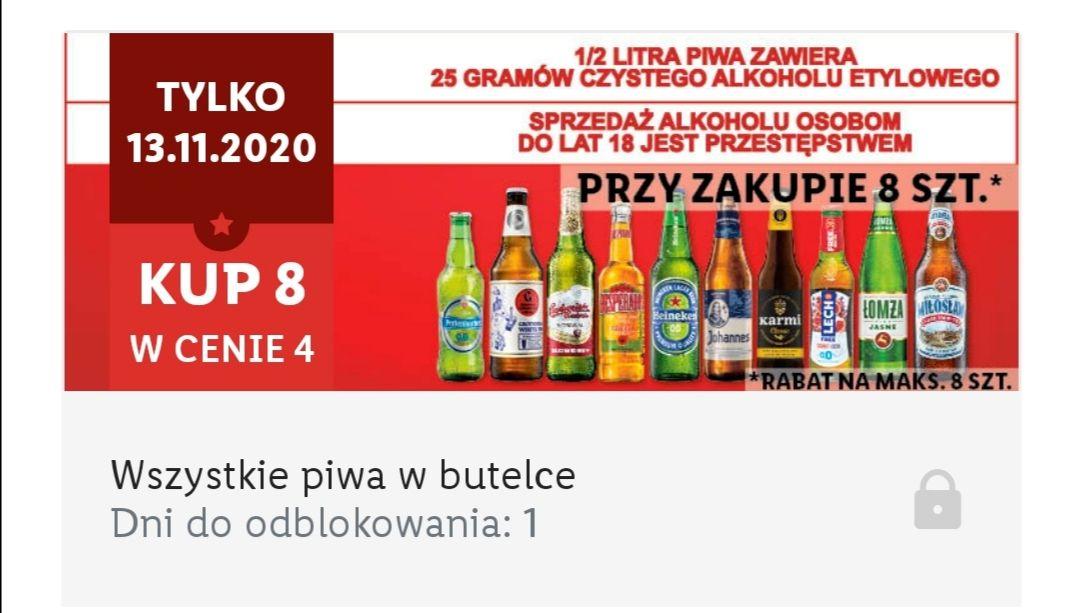 Wszystkie piwa butelkowe 8 w cenie 4 - Lidl