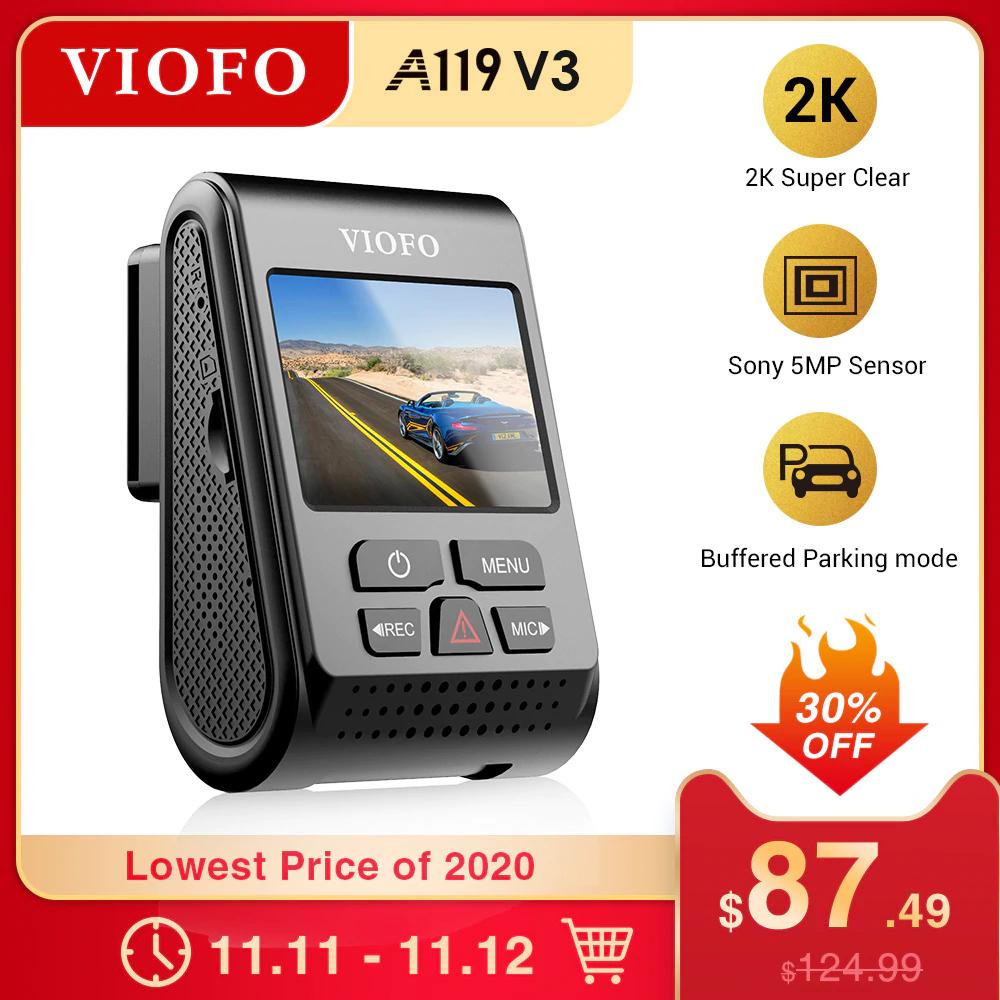 Wideorejestrator VIOFO A119 V3 z Polski za $78.68 / ~299zł z kuponem sprzedawcy oraz kodem PEPPERAE1111