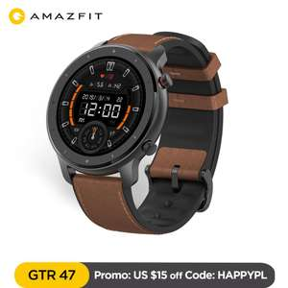 Smart watch Amazfit GTR 47mm, wysyłka z Polski.