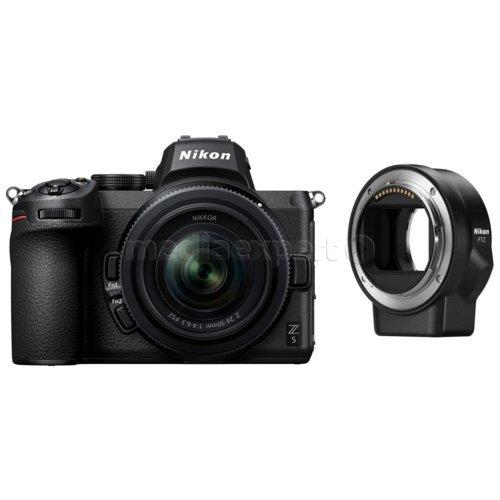 Aparat NIKON Z5 Czarny + Obiektyw Nikkor Z 24-50 mm f/4.0-6.3 + Adapter FTZ