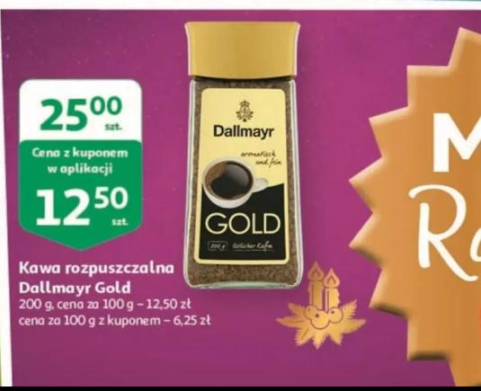 Kawa rozpuszczalna Dallmayr Gold 200 g - kupon w aplikacji Auchan