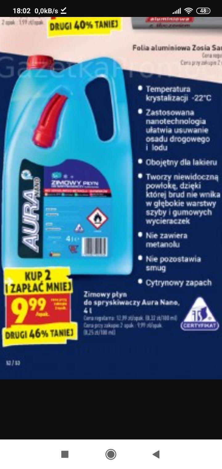 Zimowy płyn do spryskiwaczy Aura Nano przy zakupie 2szt.