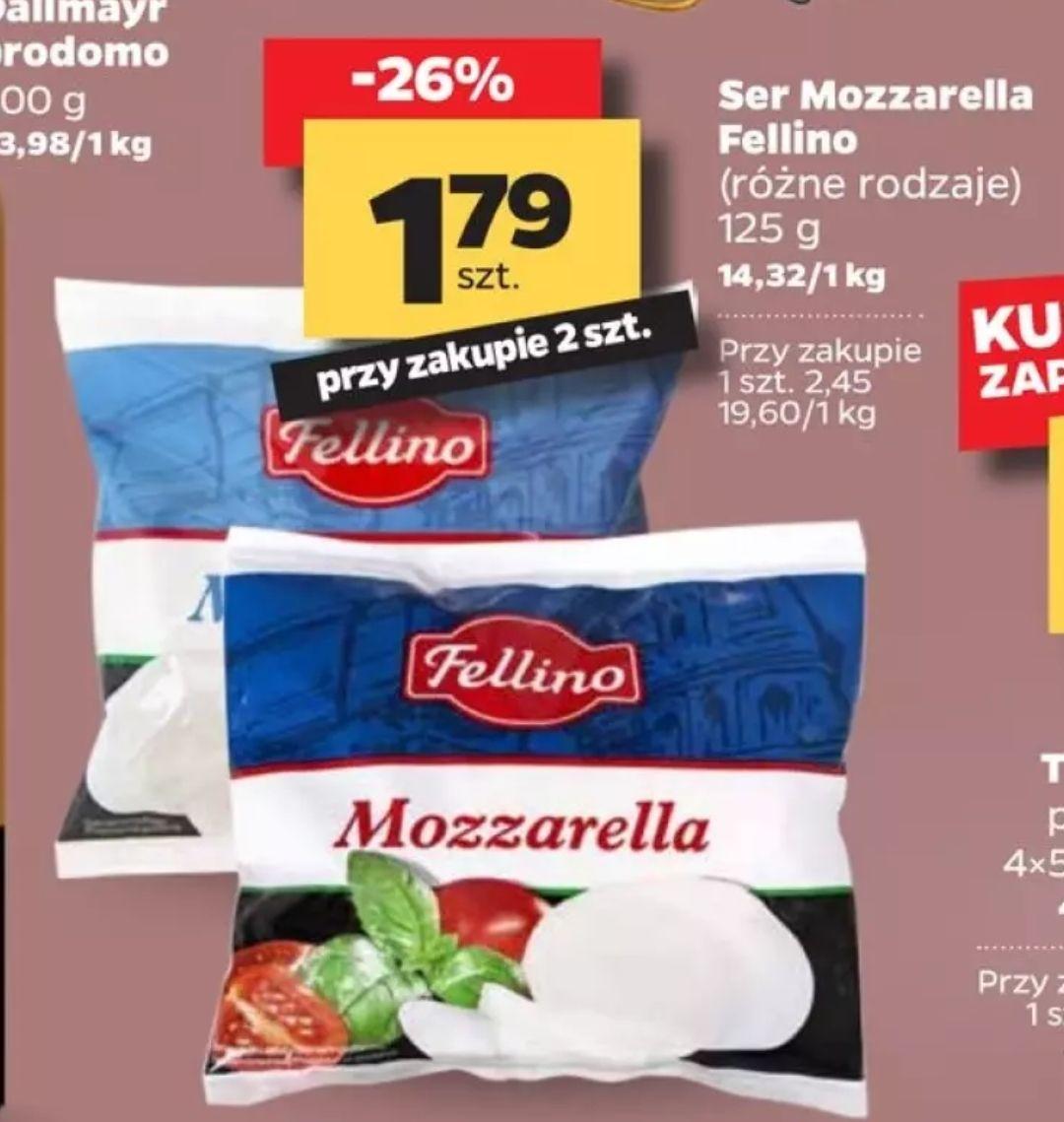 Ser mozzarella 125g (cena przy zakupie dwóch) w Netto