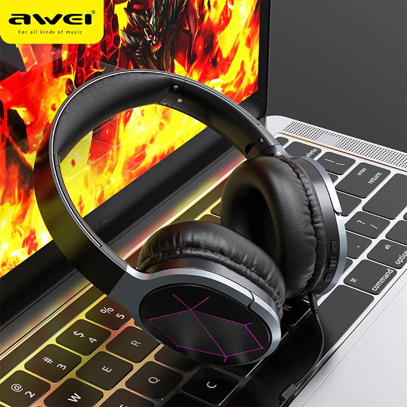 Słuchawki gamingowe bluetooth AWEI A799BL - 23.78$ z Polski lub z Chin @aliexpress
