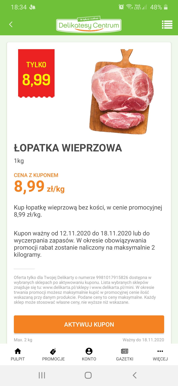 Łopatka wieprzowa w dobrej cenie
