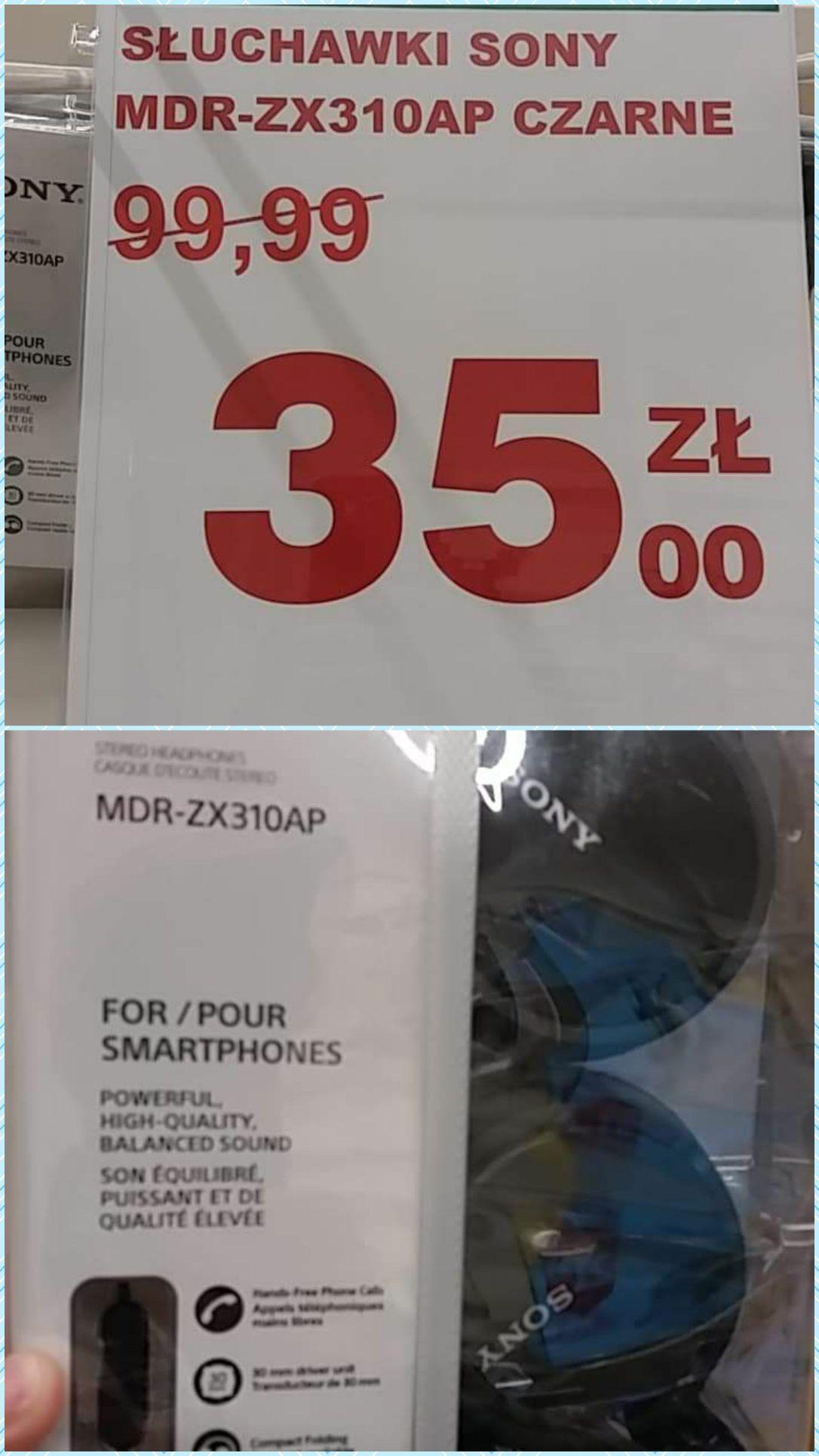 Słuchawki Sony MDR-ZX310AP