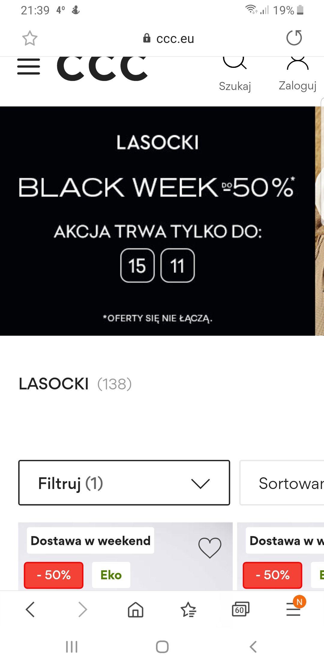Lasocki do -50% CCC