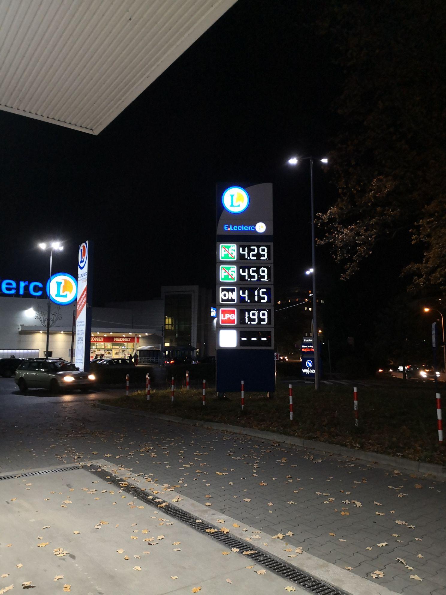Gaz 1.99 Stacja E. Leclerc Wrocław ul. Zakładowa