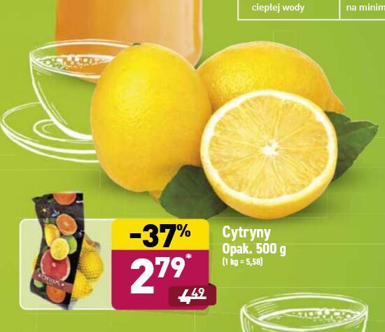 Cytryny w opakowaniu 2,79zł/500g - Aldi
