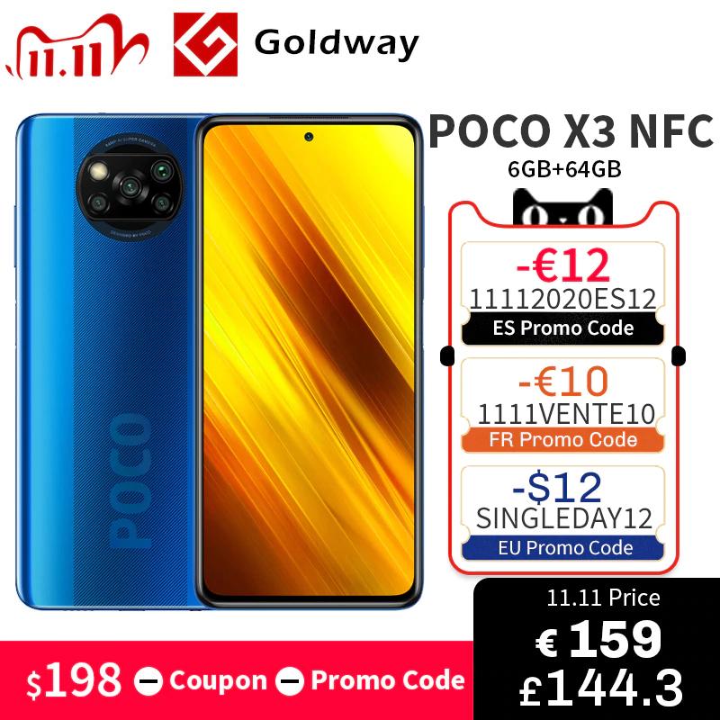 POCO X3 64GB <206,91$ - KOD (16$) = 190.91$> *Last minute*