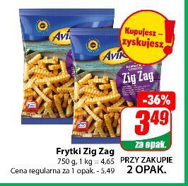Frytki Zig Zag 750g Aviko przy zakupie 2 opak. @Dino
