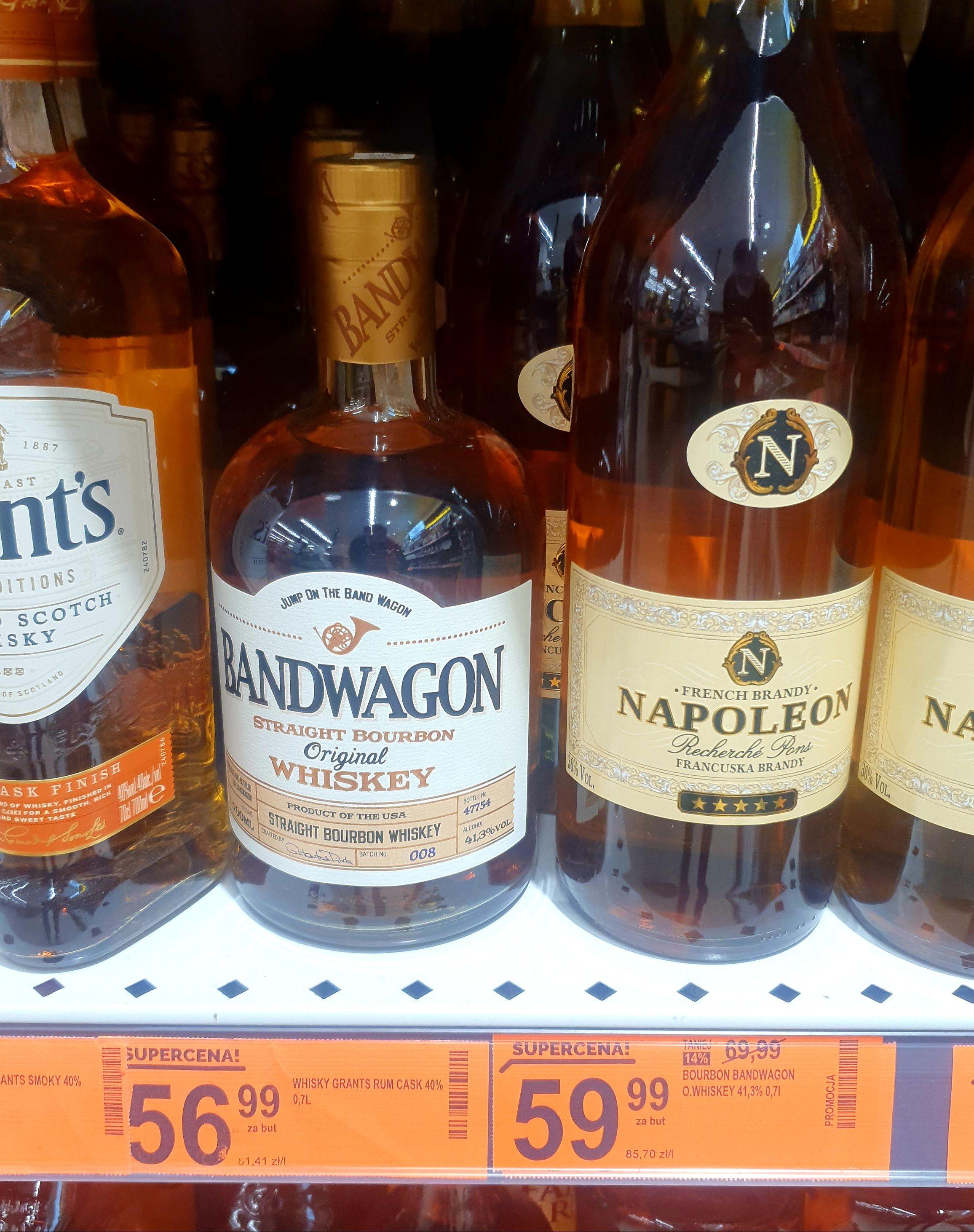 Bandwagon whiskey 10 zł taniej Biedronka