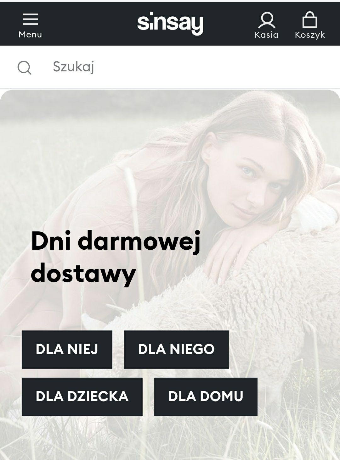 Darmowa dostawa w Sinsay