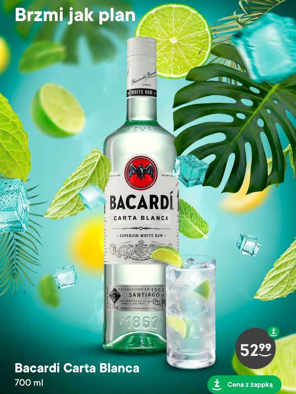 Rum Bacardi Carta Blanca 37,5% 0,7l w Żabce z aplikacją Żappka