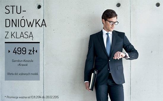Garnitur+koszula+krawat za 499zł @ Recman