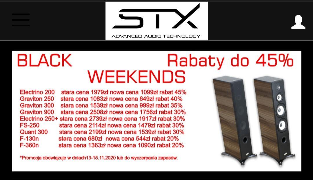 Kolumny STX wyprz od 20 do 45%