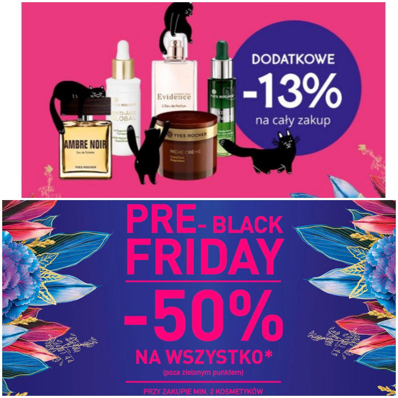 Yves Rocher - dodatkowe -13% do innych promocji, np. Pre-Black Friday (-50%) - ważny na WSZYSTKIE produkty