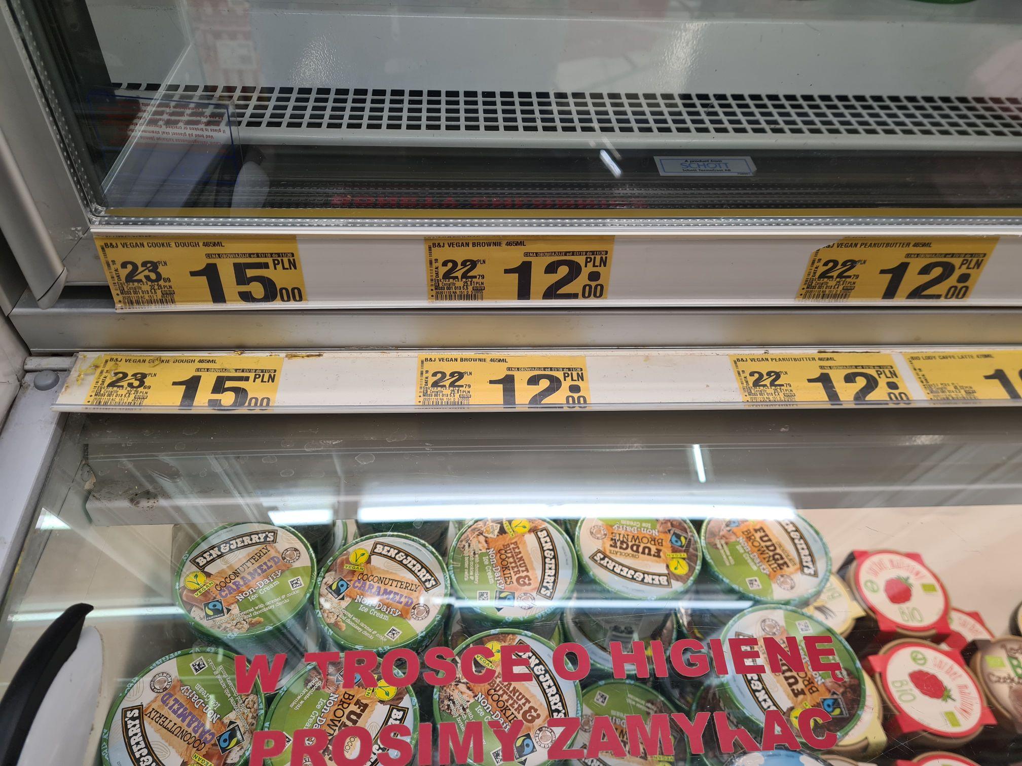 Lody Ben&Jerry's Auchan Gdańsk